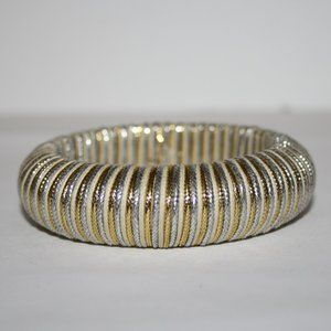 Vintage silver and gold bangle bracelet